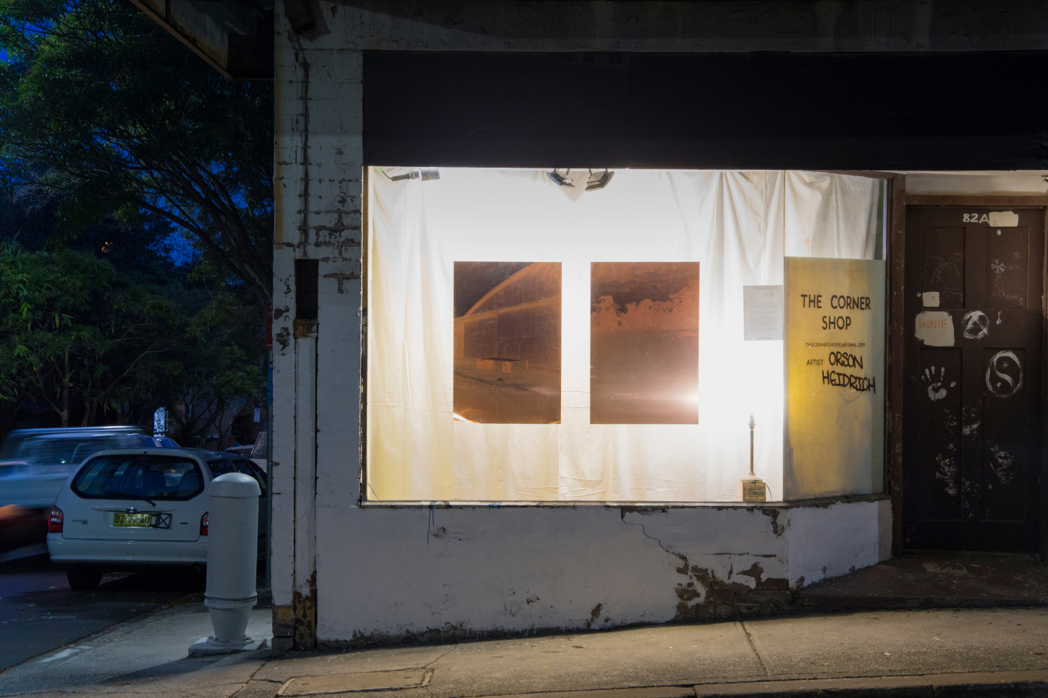 <p><i>Camér</i>, 2018, UV Pigment Prints on Copper Plates, 1800mm x 1100mm, installation view, The Corner Shop, Newtown 2018.</p>