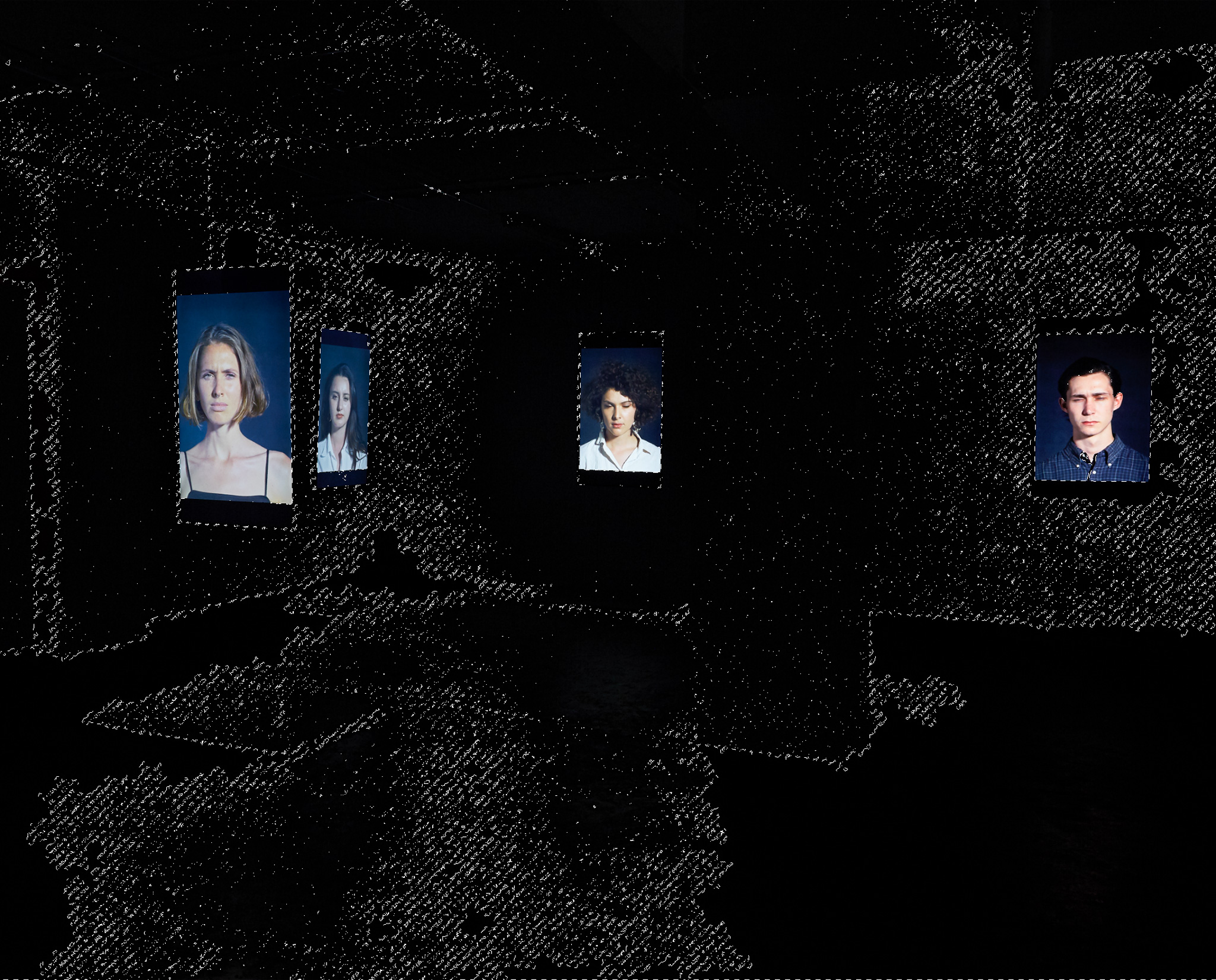 <p><i>Flash Portraits</i>, 2018, Exhibition mapping</p>